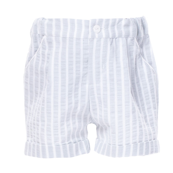 SS18 Patachou Boys Blue & White Stripe Shorts