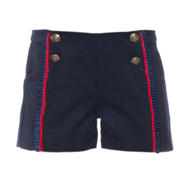AW18 Patachou Girls Navy Blue Shorts