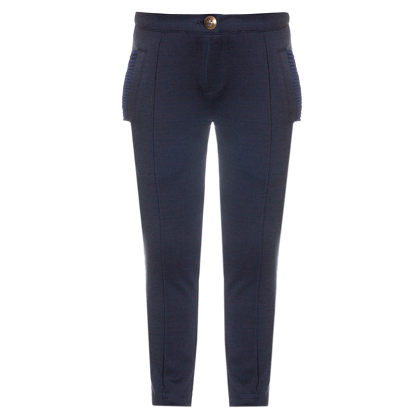 AW18 Patachou Girls Navy Blue Trousers