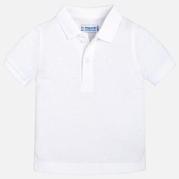SS18 Mayoral Toddler Boys White Polo Shirt 102