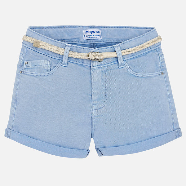 SS18 Mayoral Older Girls Blue Shorts 275
