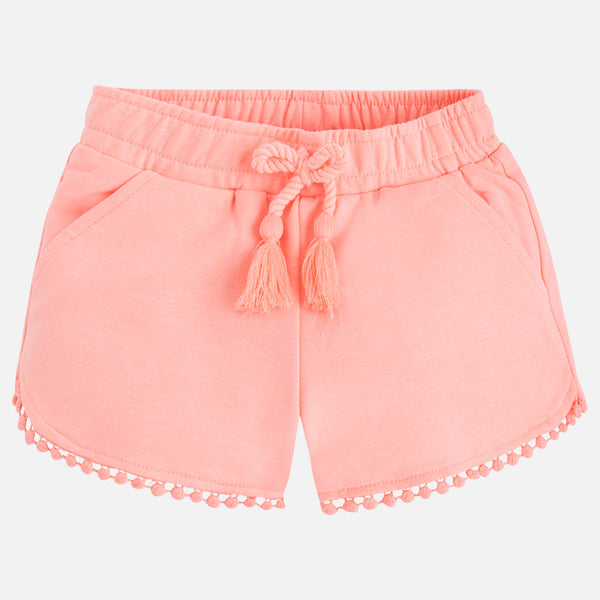SS18 Mayoral Girls Coral Shorts 607