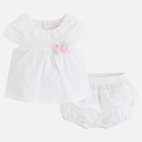 SS18 Mayoral Baby Girls Cream Frilly Knickers Set 1116