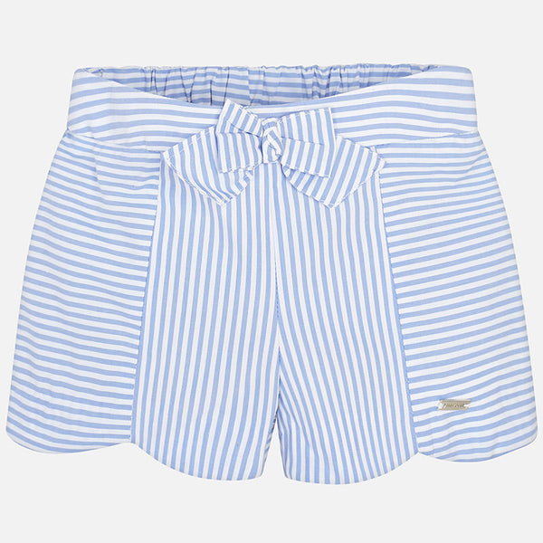 SS18 Mayoral Toddler Girls Blue & White Stripe Shorts Set 1124 & 1244