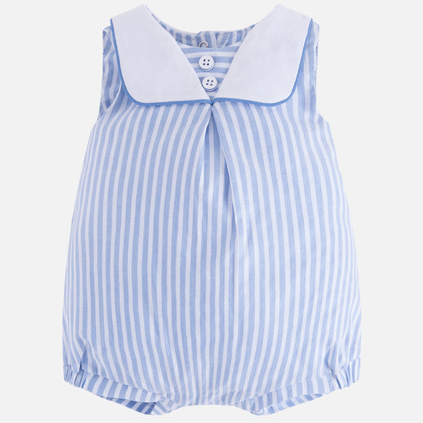 SS18 Mayoral Baby Boys Sailor Blue & White Stripe Romper 1634