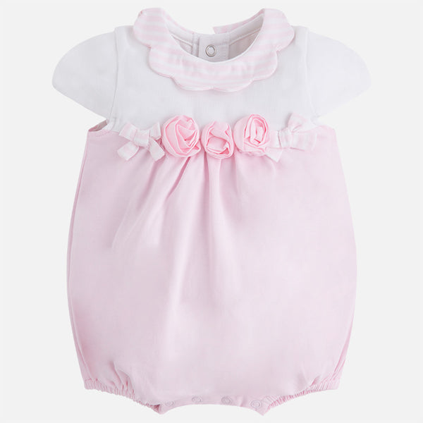 SS18 Mayoral Baby Girls Pink & White Romper 1642