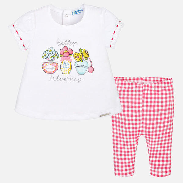 SS18 Mayoral Toddler Girls Flowers & Perfume Leggings Set 1759