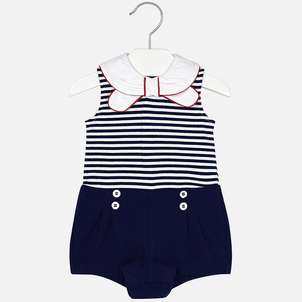 SS18 Mayoral Baby Girls Nautical Playsuit 1888