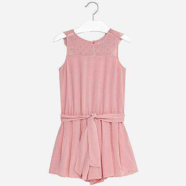 SS18 Mayoral Older Girls Dusky Pink Playsuit 6804