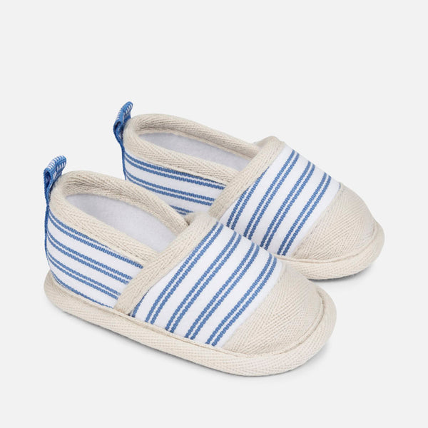 SS18 Mayoral Baby Blue & White Stripe Soft Sole Sandals 9745