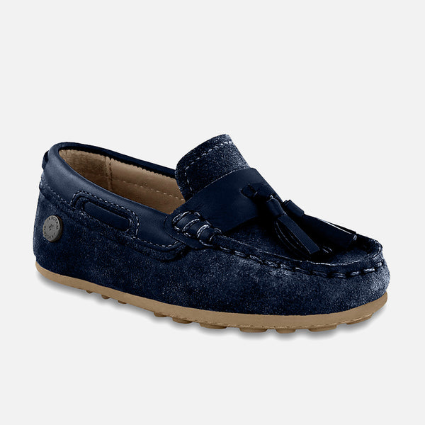 SS18 Mayoral Toddler Boys Leather Navy Loafers 41876