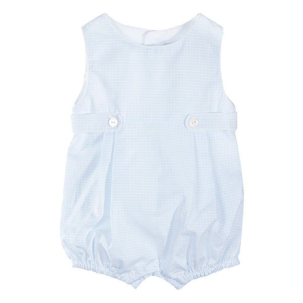 SS19 Patachou Baby Boys Blue & White Check Romper