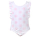 SS19 Patachou Girls White & Pink Polka Dot Swimming Costume