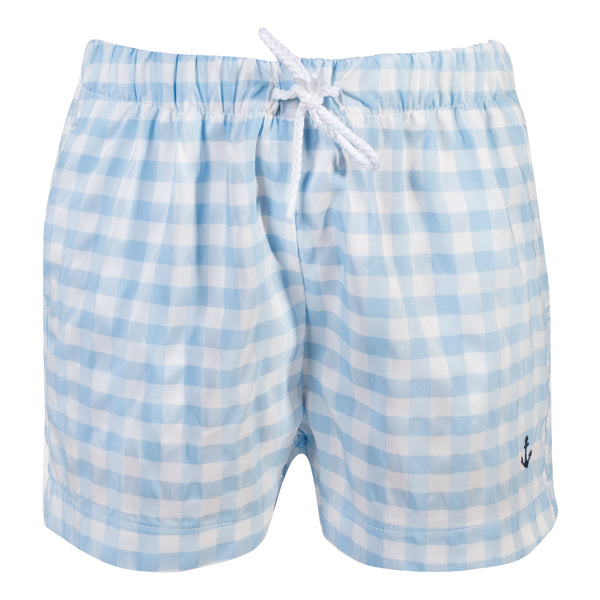 SS19 Patachou Boys Blue & White Check Swim Shorts