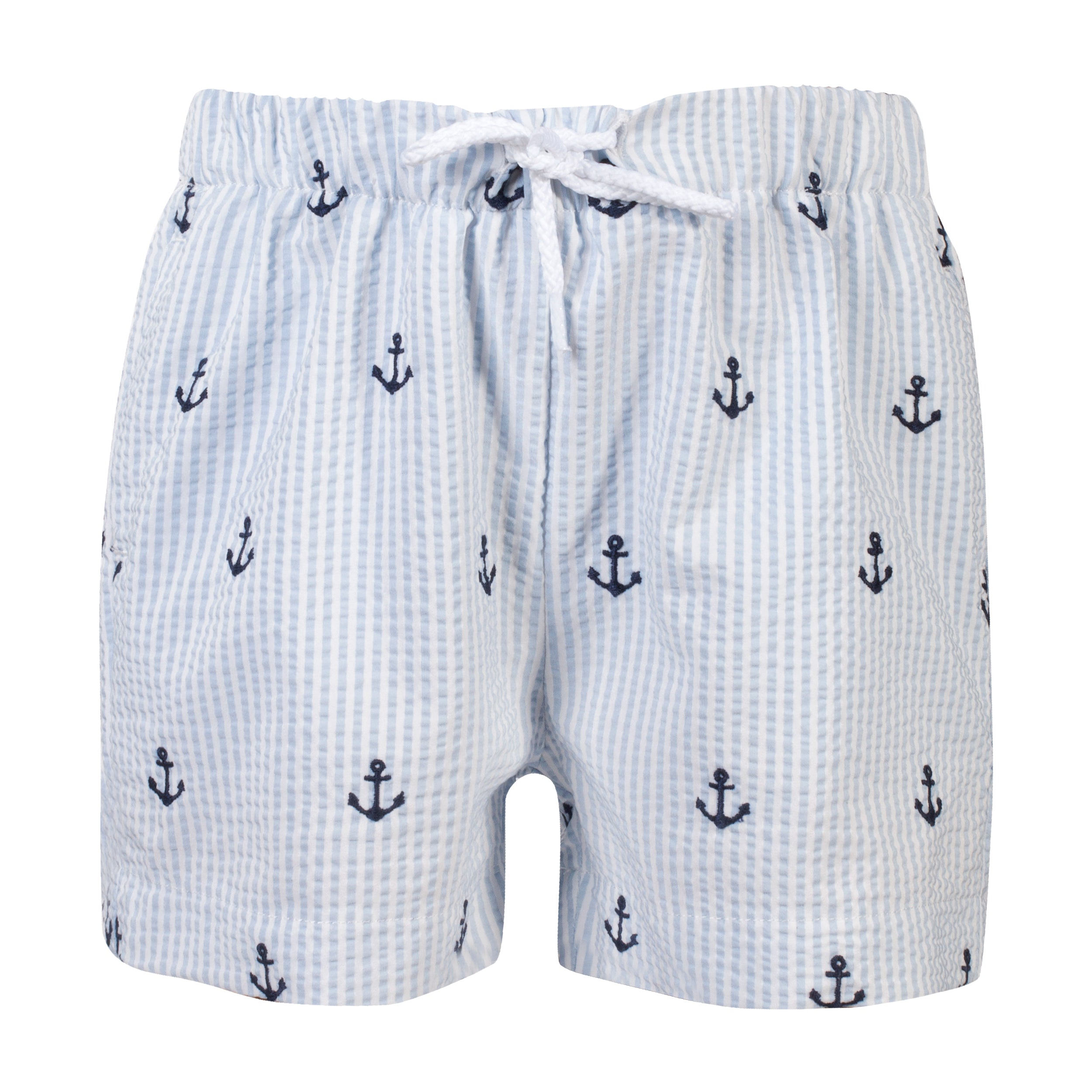 3d3a6e8520 SS19 Patachou Boys Blue & White Stripe Anchor Swim Shorts – Liquorice Kids