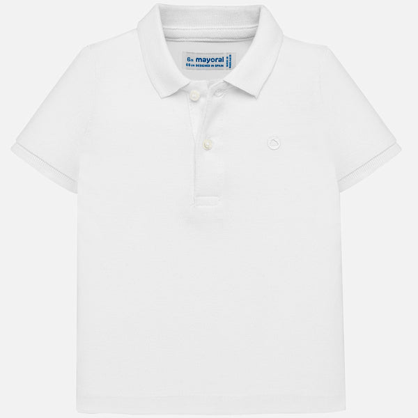 SS19 Mayoral Toddler Boys White Polo Top 102