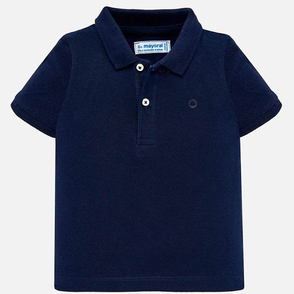 SS19 Mayoral Toddler Boys Navy Blue Polo Top 102