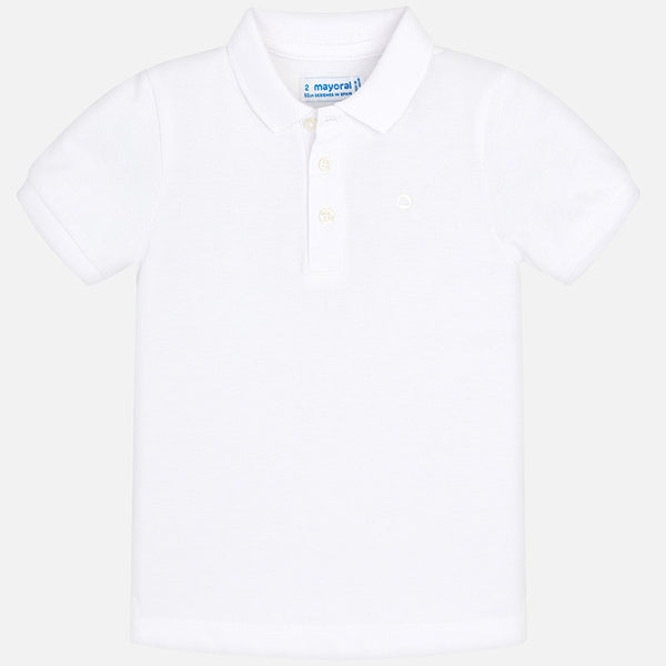 SS19 Mayoral Boys White Polo Top 150