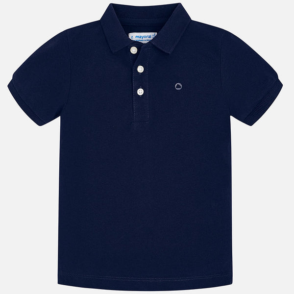 SS19 Mayoral Boys Navy Blue Polo Top 150