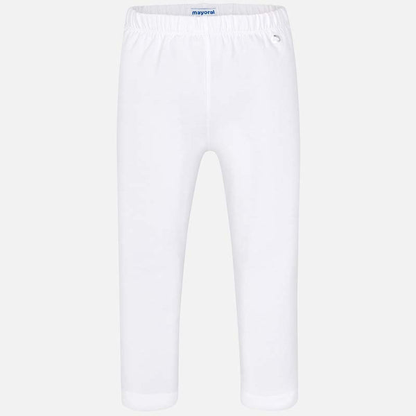 SS19 Mayoral Older Girls White Cropped Leggings 724