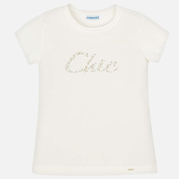 SS19 Mayoral Older Girls Ivory 'Chic' Top 854