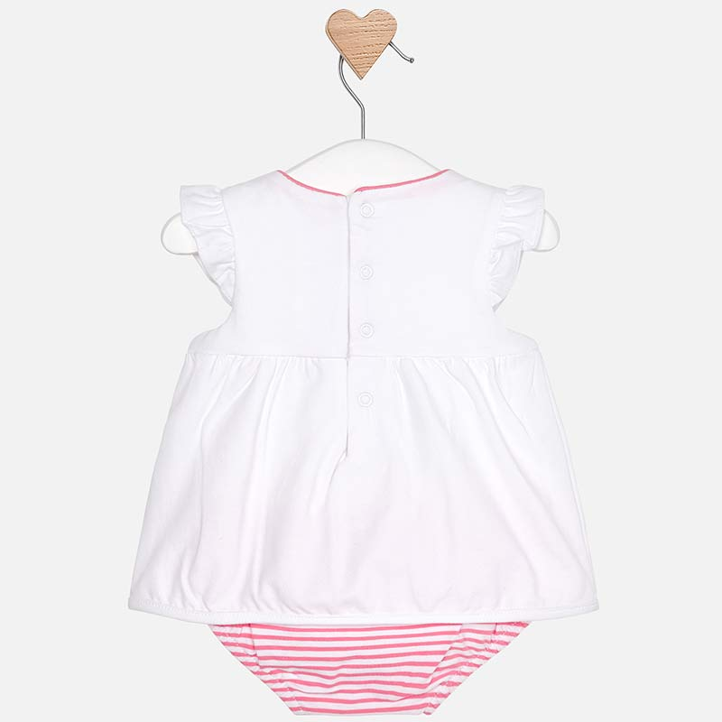 b9344a900aca SS19 Mayoral Baby Girls Pink Striped Romper 1801 – Liquorice Kids