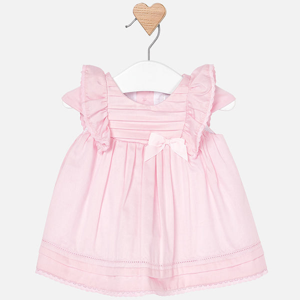 SS19 Mayoral Baby Girls Pink Bow Dress 1805