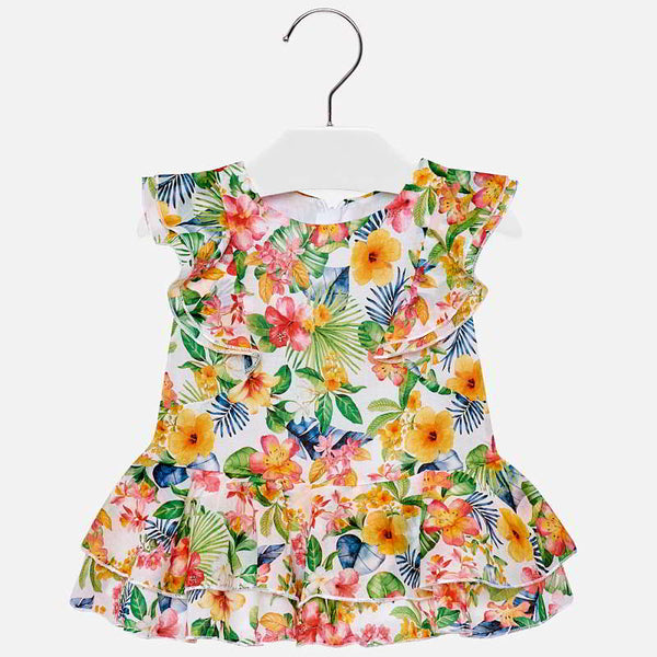 SS19 Mayoral Toddler Girls Tropical Flower Print Dress 1940