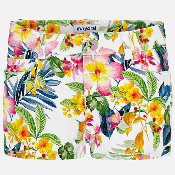 SS19 Mayoral Girls Floral Shorts  3210