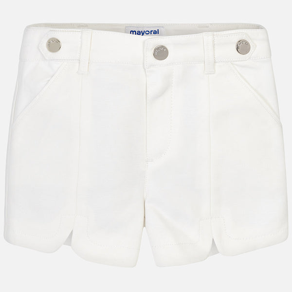 SS19 Mayoral Girls Ivory Satin Shorts 3213