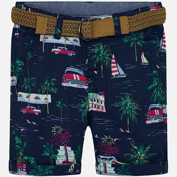 SS19 Mayoral Boys Blue Miami Print Shorts 3235