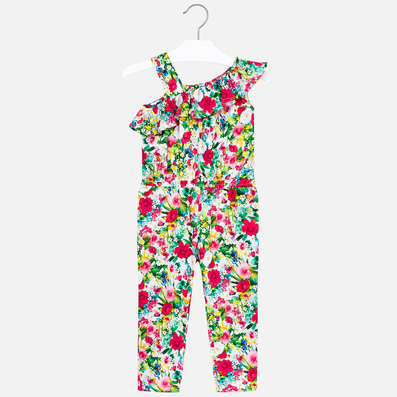 SS19 Mayoral Girls Floral Printed Jumpsuit 3802
