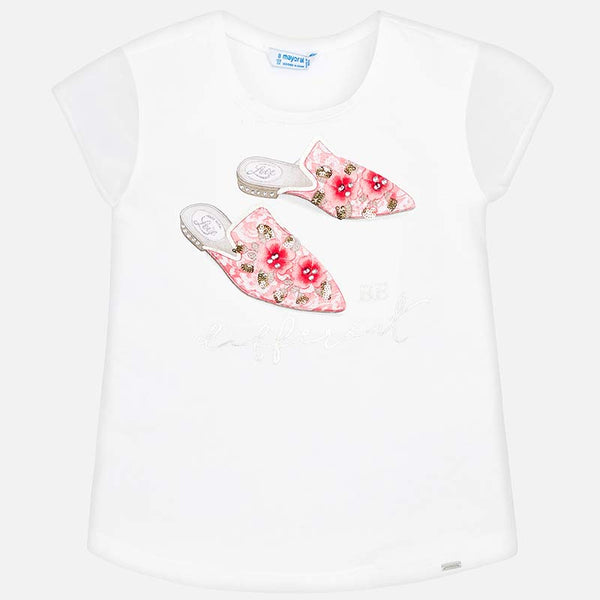 SS19 Mayoral Older Girls 'Be Different' Shoes Print Top 6002