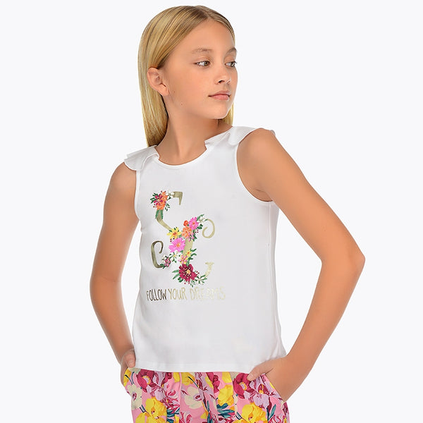 SS19 Mayoral Older Girls 'Follow Your Dreams' Top 6029