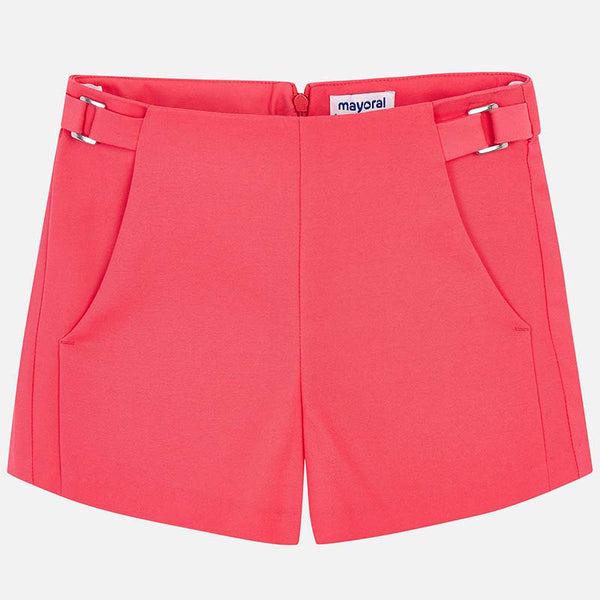 SS19 Mayoral Older Girls Coral Shorts 6204