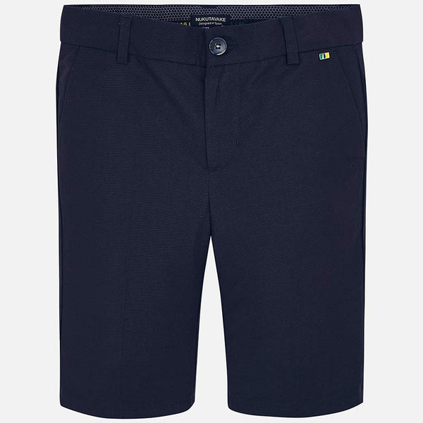 SS19 Mayoral Older Boys Navy Blue Linen Shorts 6218