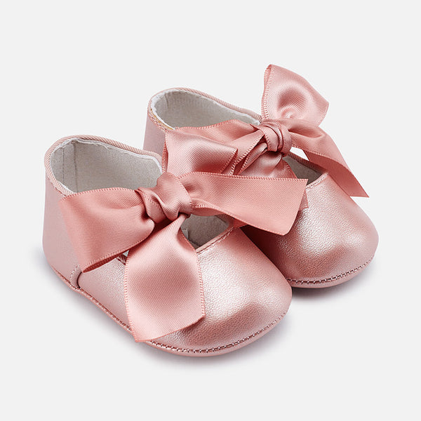 SS19 Mayoral Baby Girl Pink Mary Jane Pram Shoes 9091