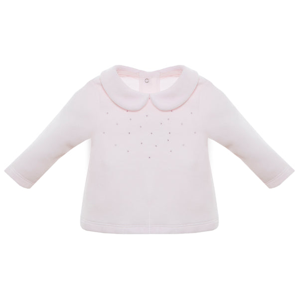 AW19 Patachou Baby Girls Pink Swarovski Elements Two-Piece Set