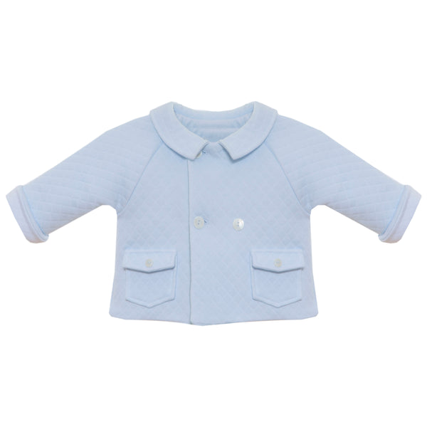 AW19 Patachou Baby Boys Blue Quilted Jacket
