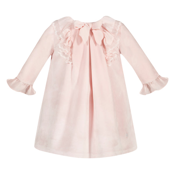AW19 Patachou Girls Pink Velvet Dress