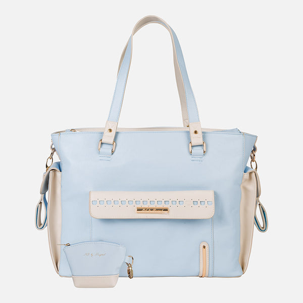 Mayoral Blue and Cream Leatherette Changing Bag 19548