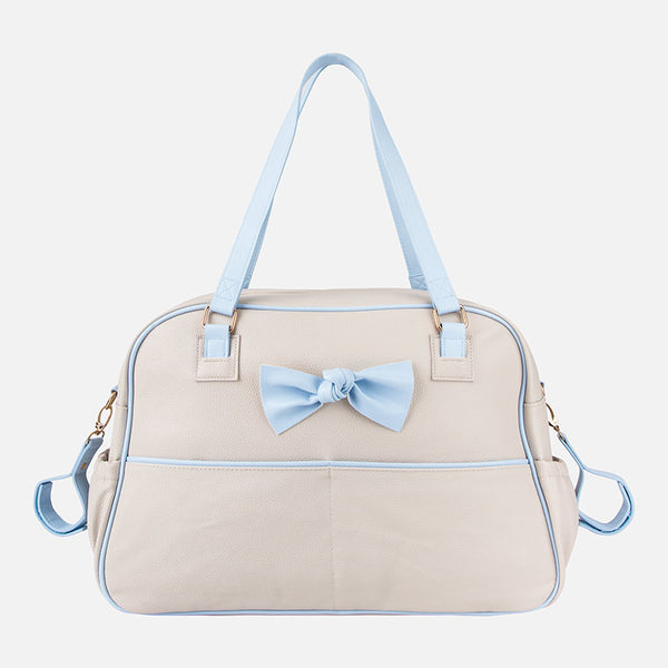 Mayoral Baby Changing Bag - Beige And Blue 19684