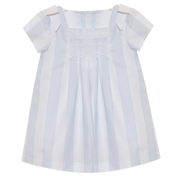 SS20 Patachou Girls Pale Blue & White Stripe Dress