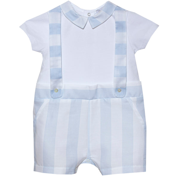 SS20 Patachou Baby Boys Blue & Stripe Romper