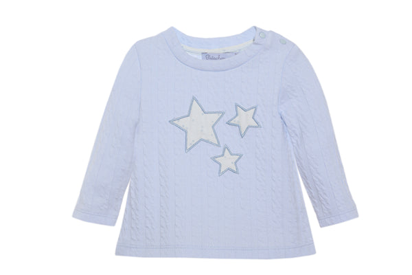 AW20 Patachou Baby Boys Blue Jacquard Set