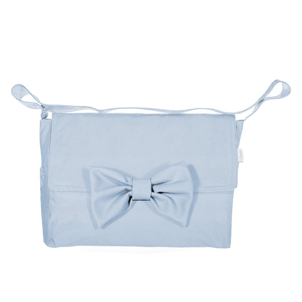 Uzturre Blue Bow Leatherette Changing Bag
