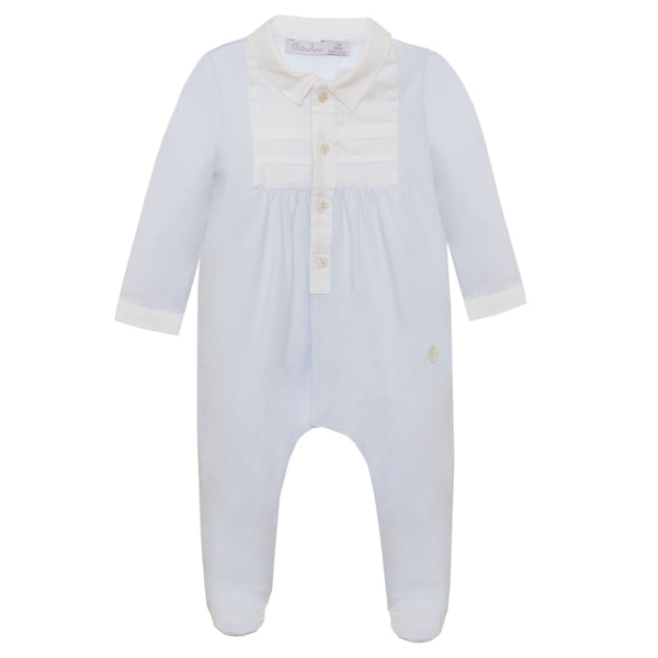SS21 Patachou Baby Boys Blue & White Babygrow