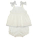 SS21 Patachou Baby Girls Ivory & Grey Jam Pants Set