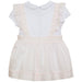 SS21 Patachou Girls White & Pink Bows Dress