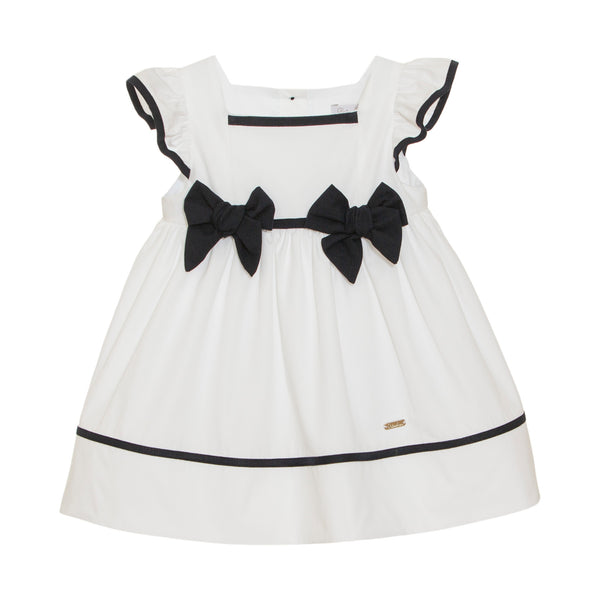SS21 Patachou Girls Navy Blue & White Sailor Dress